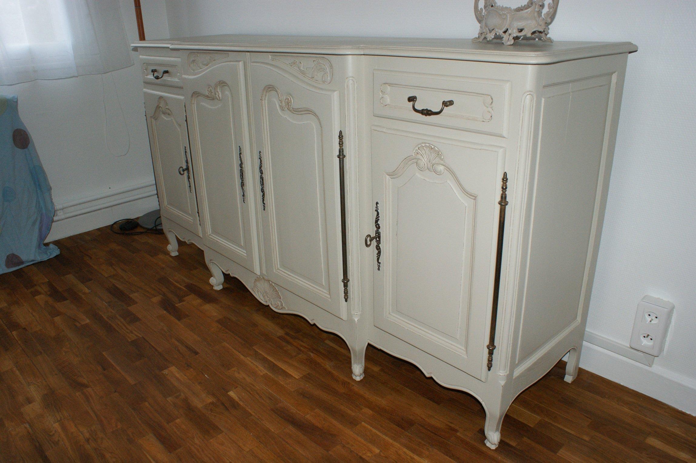 Nos vieux meubles r nov s relook s et patin s r sultats - Meuble merisier peint ...